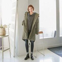 Seoul Fashion - Faux-Fur Hooded Thick Parka