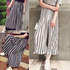 YOSH - Striped Chiffon Culottes