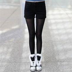 CHICFOX - Brushed Fleece-Lined Shorts