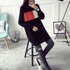 Qimi - Colour Block Knit Dress