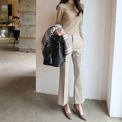 Hello sweety - Flat-Front Boot-Cut Pants