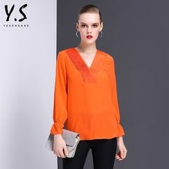 Y:Q - V-Neck Long-Sleeve Top
