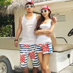 Honey Lemon - Union Jack Print Couple Shorts