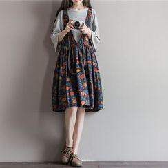 Fancy Show - 印花背带裙