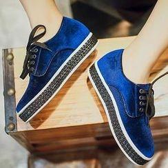 幸福鞋坊 - 絲絨牛津鞋