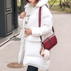 Seoul Fashion - Hooded Zip-Up Padded Coat