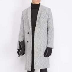 DANGOON - Single-Breasted Wool Blend Coat