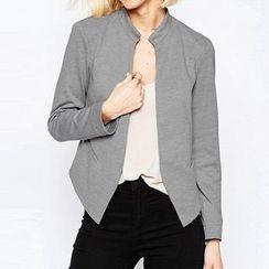 Richcoco - Plain Cropped Jacket