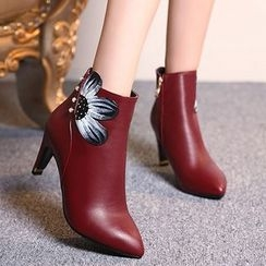 Gizmal Boots - High Heel Pointy Ankle Boots