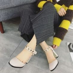 Anran - Grommet Ankle Strap Pumps