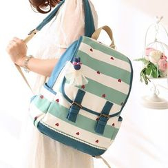 Canvas Love - Heart Print Backpack
