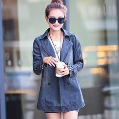 Romantica - Washed Denim Trench Coat