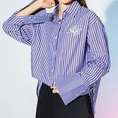 Heynew - Embroidered Striped Shirt