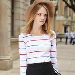 Ranee - Long-Sleeve Striped T-Shirt