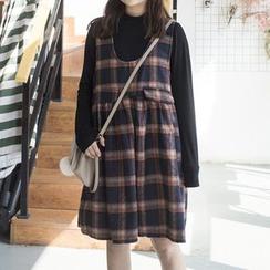 Cloud Nine - 無袖格子連衣裙
