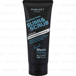熊野 - Pharmaact Washing Foam Sumi & Scrub (For Men)
