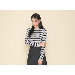Envy Look - Round-Neck Striped T-Shirt