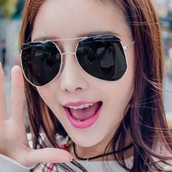 JUNHOVER - Polygon Aviator Sunglasses
