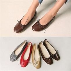 Wifky - Bow-Front Faux-Leather Flats