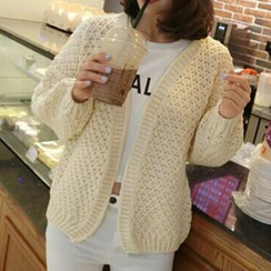 FR - Pointelle Knit Cardigan