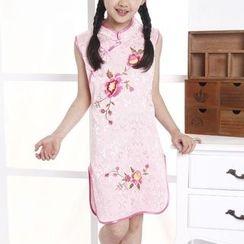 SEE SAW - Sleeveless Embroidery Cheongsam