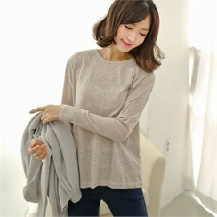 Styleberry - Round-Neck Melange T-Shirt