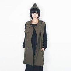 Beccgirl - Epaulet Double Breasted Trench Coat