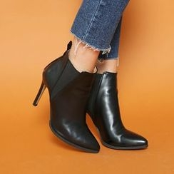 DABAGIRL - Pointy-Toe Pin-Heel Ankle Boots