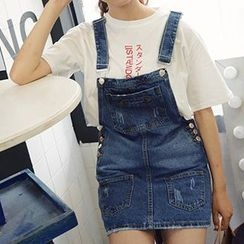 Girl Next Door - Denim Jumper Skirt