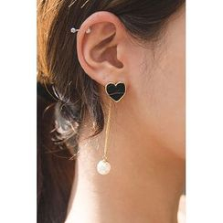 migunstyle - Heart Drop Earrings