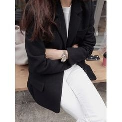 maybe-baby - Wool Blend Notched-Lapel Jacket