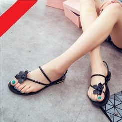 Laceuplux - Flower Toe-Loop Sandals