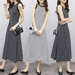 Elinor - Striped Midi Tank Dress