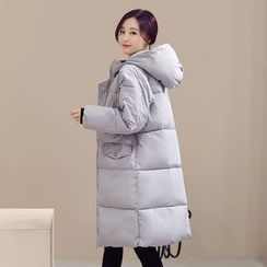 Romantica - Hooded Puffer Zip Coat