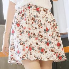 Sens Collection - Floral A-Line Skirt