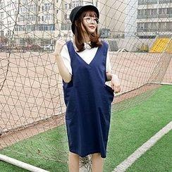 Dream Bear - V-Neck Jumper Skirt