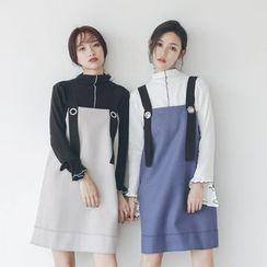 Her Story - Shift Suspender Dress