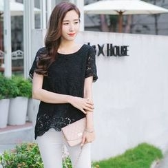 Tokyo Fashion - Lace Short-Sleeve Top