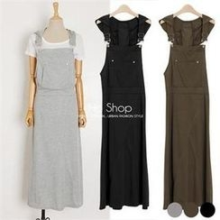 Ho Shop - Hooded Long Jumper Skirt