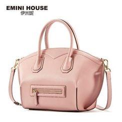 Emini House - Genuine Leather Slouchy Handbag