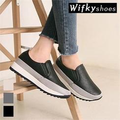 Wifky - Mesh-Trim Platform Sneakers