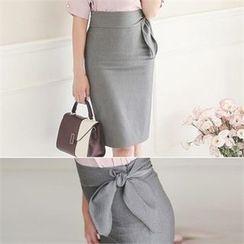 ode' - Tie-Waist Pencil Skirt