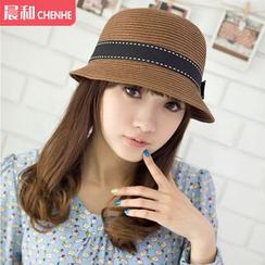 Morning Dew - Bow Fedora Hat