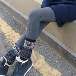 CLICK - Brushed-Fleece Leggings