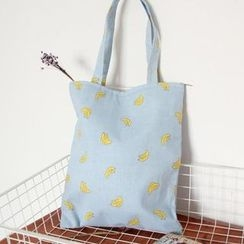 TangTangBags - Banana Print Canvas Shopper Bag