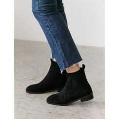FROMBEGINNING - Faux-Suede Ankle Boots