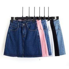 Heybabe - A-Line Denim Skirt