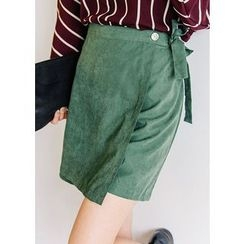 J-ANN - Wrap Tied-Waist Shorts