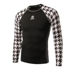 Fireon - Houndstooth Panel Long-Sleeve Sports Top