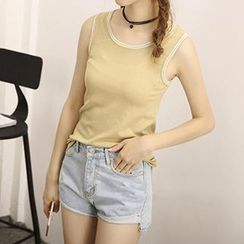 Honey House - Contrast Trim Tank Top